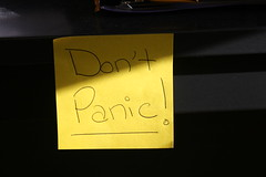 Don't panic! by quinn.anya, on Flickr