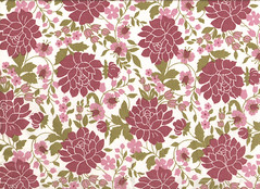 Pink Flowers & Vines Textile (Kaiser Tia) Tags: pink flowers green leaves vintage pattern funky sheets retro textile vintagefabric fabric cover sheet textiles retrofabric