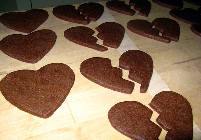 Broken Heart Cookies