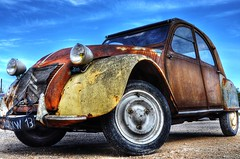 2cv Mad Max (marcovdz) Tags: auto original classic car rust voiture collection 2cv hdr rouille origine classique 3xp