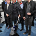 (L-R) Actors Trevor Moore, Timmy Williams, Darren Trumeter, Sam Brown and Zach Cregger with the LG Electronics Kompressor Vacuum on The 25th Spirit Awards Blue Carpet held at Nokia Theatre L.A. Live on March 5, 2010 in Los Angeles, California.