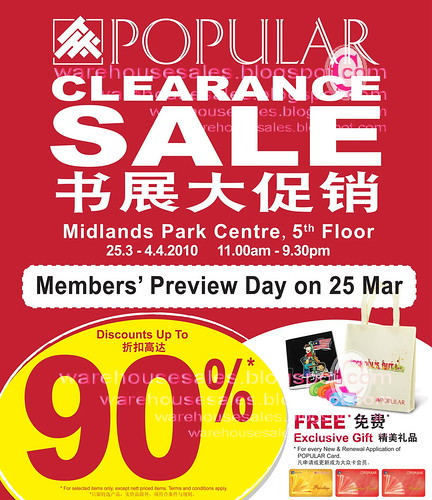 25 Mar - 4 Apr: Popular Clearance Sale @ Midlands Park Centre
