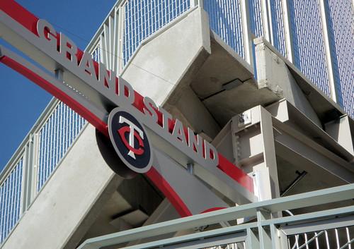 Grandstand sign Target Field