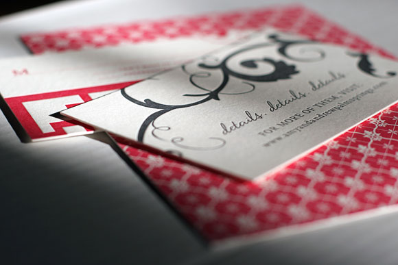 Smock Letterpress Wedding Invitations