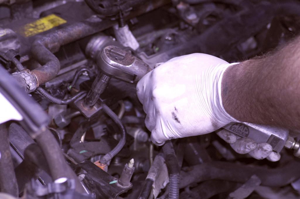 D&W Autos - Mechanic At Work 2 by Jonesemyr, on Flickr