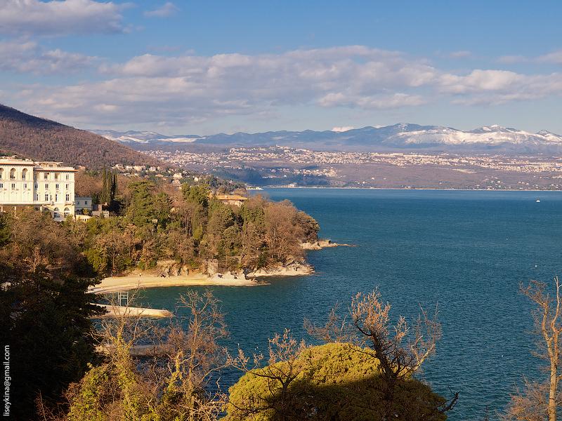 Lovran coastline. Croatia