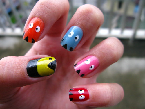 Unhas Decoradas - Pac Man por .Krol.