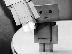 I was there.. (willycoolpics.) Tags: bw white black canon flash powershot picnik danbo s3is danboard