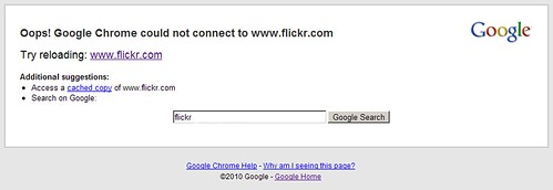 could not connect to flickr.com