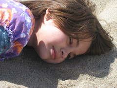 Hannah buried under sand (thomas pix) Tags: beach sand sanmateo pescadero eyefi