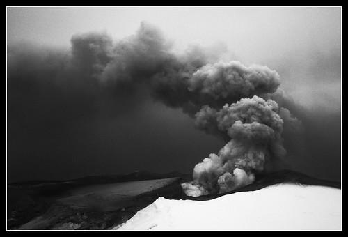 Volcano in Eyjafjallajökull, Iceland