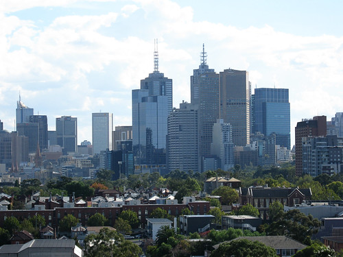 Melbourne skyline from Richmond