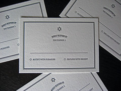 Letterpress Bar Mitzvah Invite