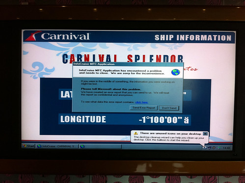 Carnival Splendor - InfoCruise Encountered a Problem