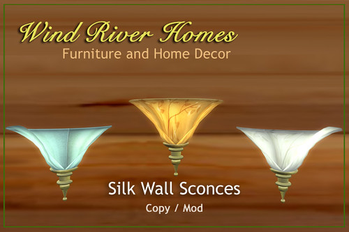 Silk and Brass Wall Sconces by Teal Freenote