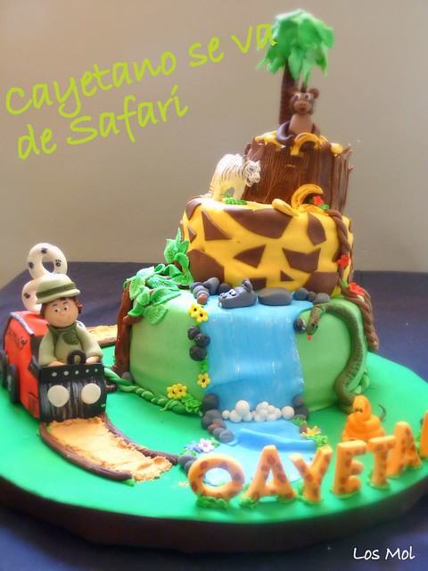 1Jungle cake- Tarta safari de Cayetano