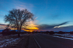([ raymond ]) Tags: americansouthwest newmexico santafe southwest img1714 winter sunset tree road