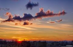 Cloud structure at Sunset (Astro☆GuiGeek) Tags: bleu sun sunset sky skyscape landscapes landscape dusk clouds cloudsstormssunsetssunrises astroguigeek france normandie normandy soleil coucherdesoleil crépuscule sigma sigma1835mm sigmaart hdrphotography hdr canoneos600d canonphotography ciel canon eos600d 600d t3i rebelt3i