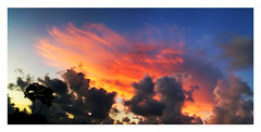 Sunset from the mall (guy with cameras) Tags: sunset red sky autostitch iphone psapp bestcamera