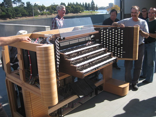 Installing the organ at Christ the Light Cathedral, Oakland, California