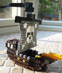 3-D Perler Bead Pirate Ship (Kid's Birthday Parties) Tags: skulls ship pirates craft pirateship kidscraft perlerbeads skullflag perlerbeadproject 3dperlerbeadproject perlerbeadpirateship perlerbeadcraft 3dperlerbeadpirateship