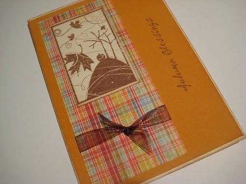 Самодельная открытка СЧАСТЬЕ (БЛАГОДЕЯНИЕ) ОСЕНИ