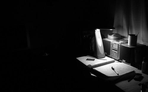 深夜时分我的工作台