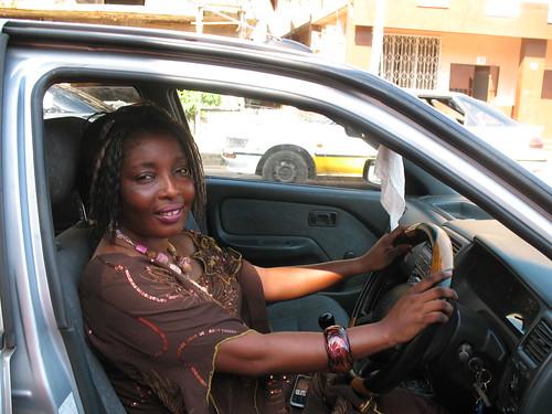 Rosaline at the wheel
