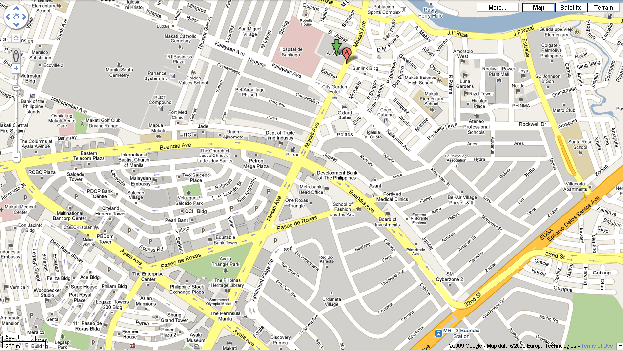 A. VENUE MAKATI AVENUE MAKATI CITY MAP