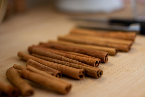 lots of cinnamon