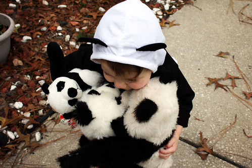 She loves her pandas