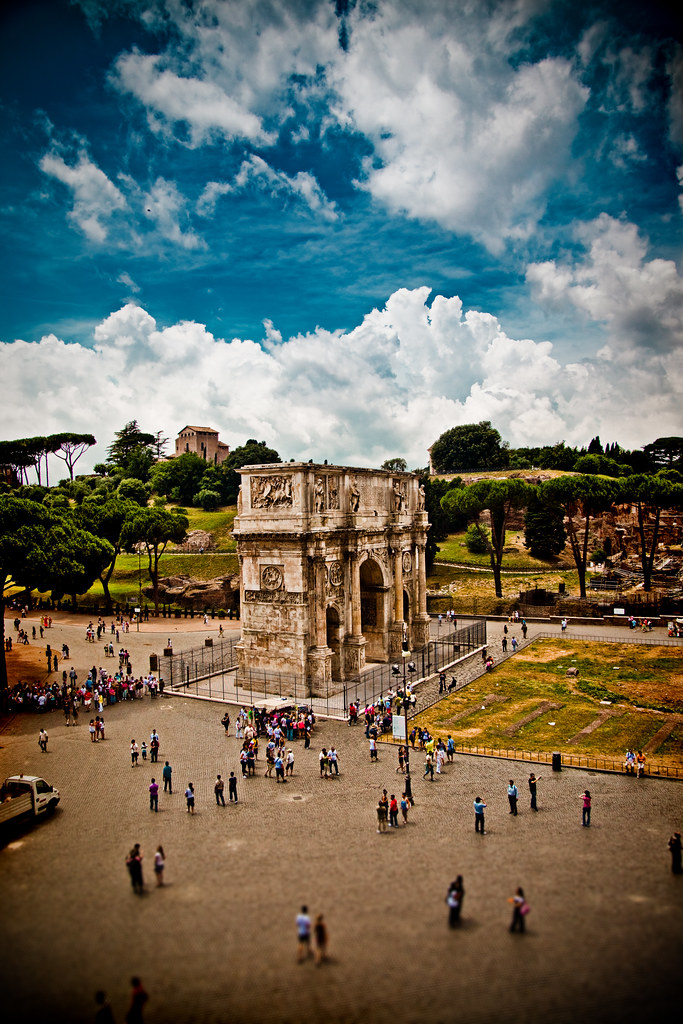 Arch of Constantine Pseudo Tilt-Shift
