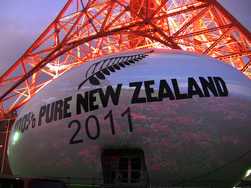 Tokyo Tower and New Zealand Giant Rugby Ball