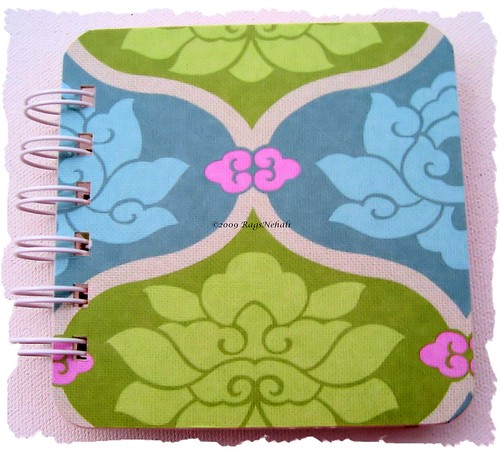 Amy Butler Blue Green Post It Holder