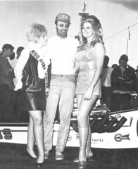 Linda Vaughn with Leroy Goldstein (torinodave72) Tags: girl june golden nikki phillips f1 linda nascar firebird marsha miss vaughn pure bennett cochran shifter hurst nhra usac ahra