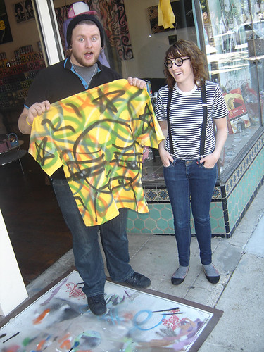 "Spray Painted Shirt For Patrick The ""Girafitti"""