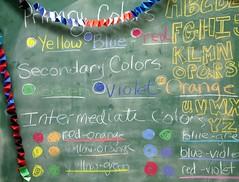 Art Class - Retread (aka Buddy) Tags: blue school red green art colors yellow chalk misc violet gimp class og chalkboard 2007 artclass
