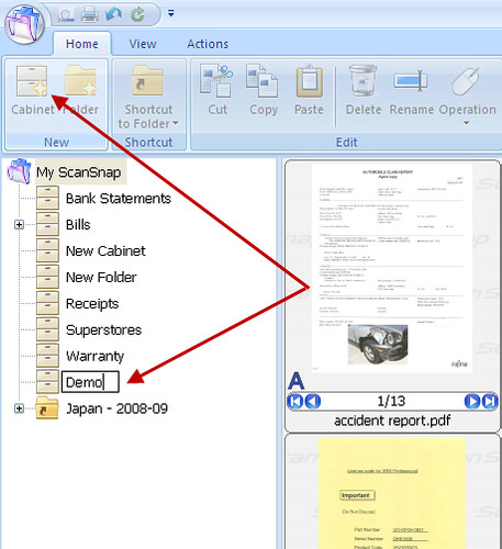 How Can I Use the Distribute by Keyword Feature in the ScanSnap Organizer Software Available with the S1500?_1