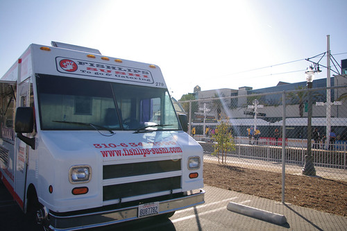 The Little Tokyo/Arts District festivities were more low-key than the others, but popular L.A. food trucks showed up.