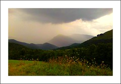 Averse... (Grard Farenc (slowly back) !) Tags: sky mountain france rain clouds montagne shower pluie ciel nuages pyrnes midipyrnes hautespyrnes averse baronnies