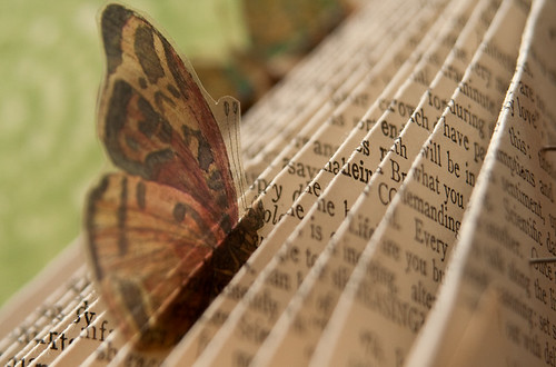 Altered Book: The Butterfly Effect - Detail