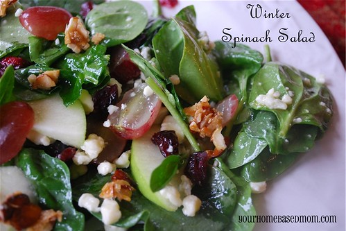 winter spinach salad - Page 402