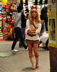 Shibuya /  () Tags: camera city vacation holiday smile fashion night asian island nikon boots shibuya moda style mini skirt cutie blond laugh blonde  paparazzi nippon garota  mulheres oriental  70300mm mujeres isle rtw japon nihon edo kanto vacanze pinkboots japanesegirl cowboyboots shortskirt globetrotter japn honshu   japanesefashion shibuyaward leatherboots  fakeblonde worldtraveler shibuyaku nightcapture landoftherisingsun  nihonkoku nipponkoku tkyto    d700 tokyometropolis  nikond700  japaneseblonde    tkei