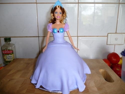 barbie doll cake. for a Barbie doll cake.