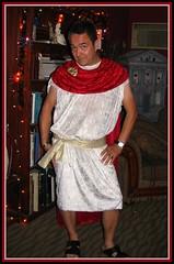 Julius Ceasar... (cinderella.girl63) Tags: halloween bar costume abby alien dressup broach tunic juliusceasar