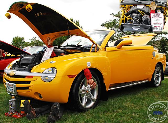 chevrolet yellow truck illinois convertible chevy ssr bolingbrook chevyssr chevroletssr summerslastblast 2004chevyssr