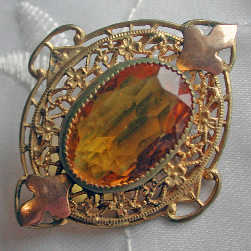 Amber Glass Pin