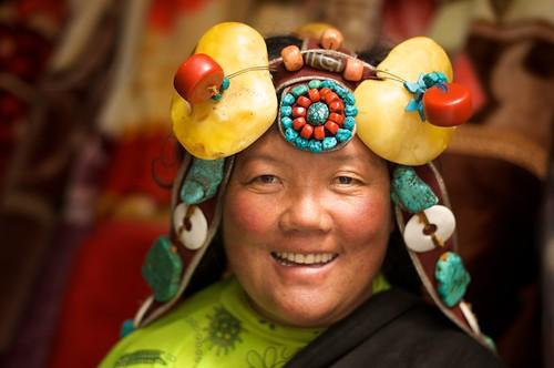 Tibetan Woman Smiles