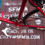 10816 SFMTA Bicycle Rack coming soon in front of City Beer Store on Folsom