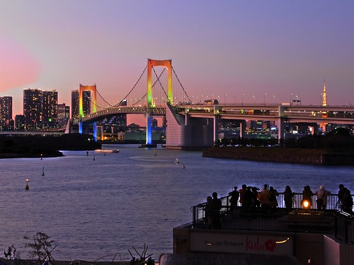Rainbow Bridge Sunset in Odaiba 2